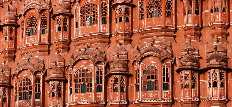 Hawa Mahal - pałac wiatry. Jaipur, India obrazy royalty free