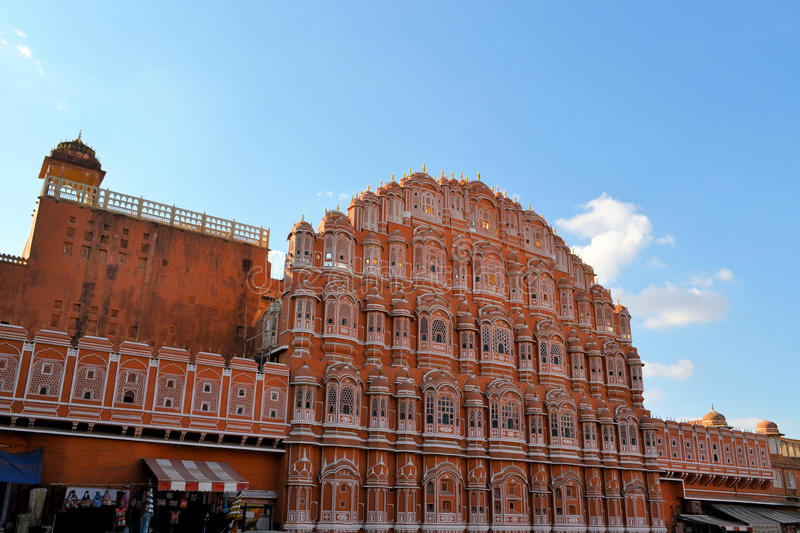 Hawa Mahal, pałac wiatry, Jaipur, India. obraz royalty free