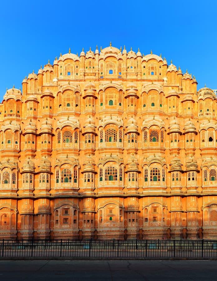 Hawa Mahal Palace in India, Rajasthan, Jaipur. Paleis van Winden stock afbeelding