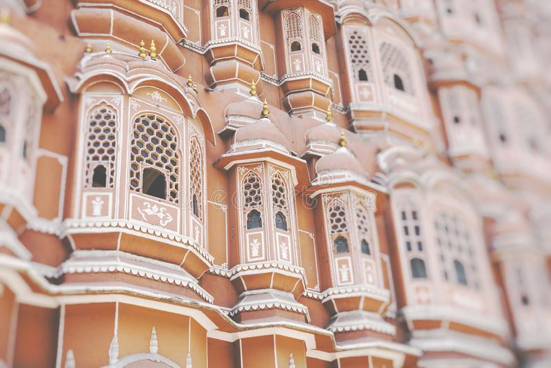 Hawa Mahal palace Palace of the Winds in Jaipur, Rajasthan.  stock photos