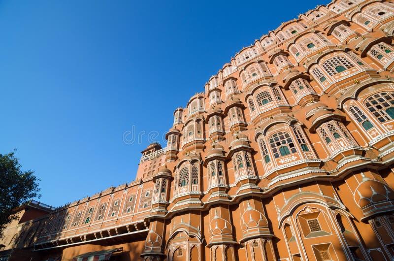 Hawa Mahal palace or Palace of the Winds in Jaipur. Rajasthan, India stock photos