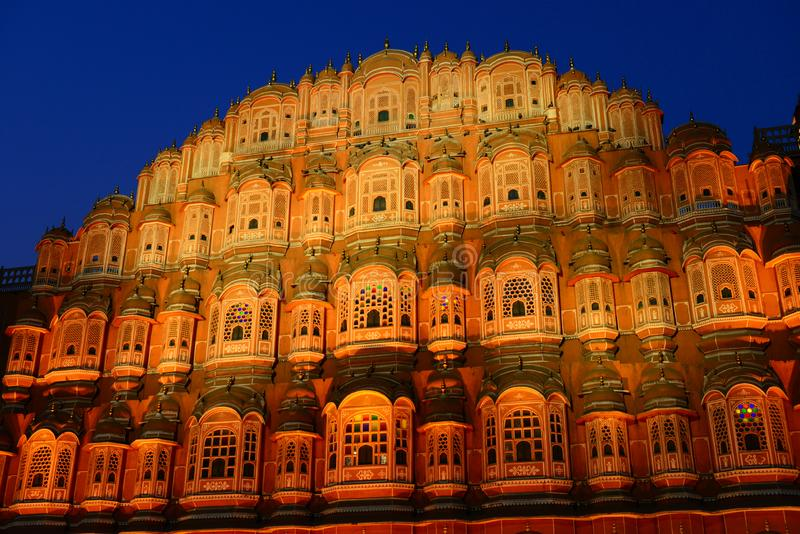 Hawa Mahal or Palace of Winds in Jaipur, India stock images