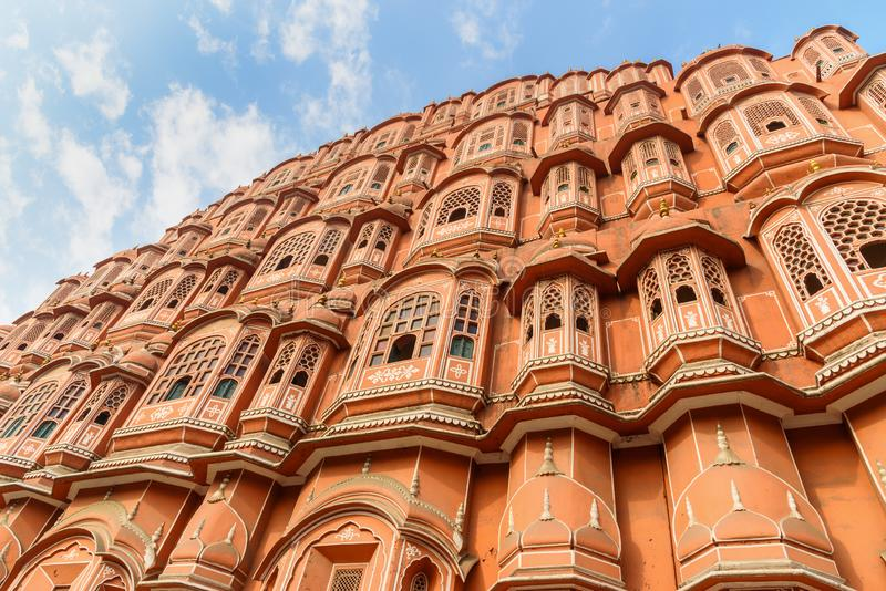 Hawa Mahal palace is Palace of Winds in Jaipur. India. Hawa Mahal palace is Palace of Winds in Jaipur. Rajasthan. India royalty free stock images