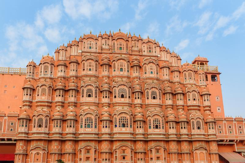 Hawa Mahal palace is Palace of Winds in Jaipur. India. Hawa Mahal palace is Palace of Winds in Jaipur. Rajasthan. India stock images