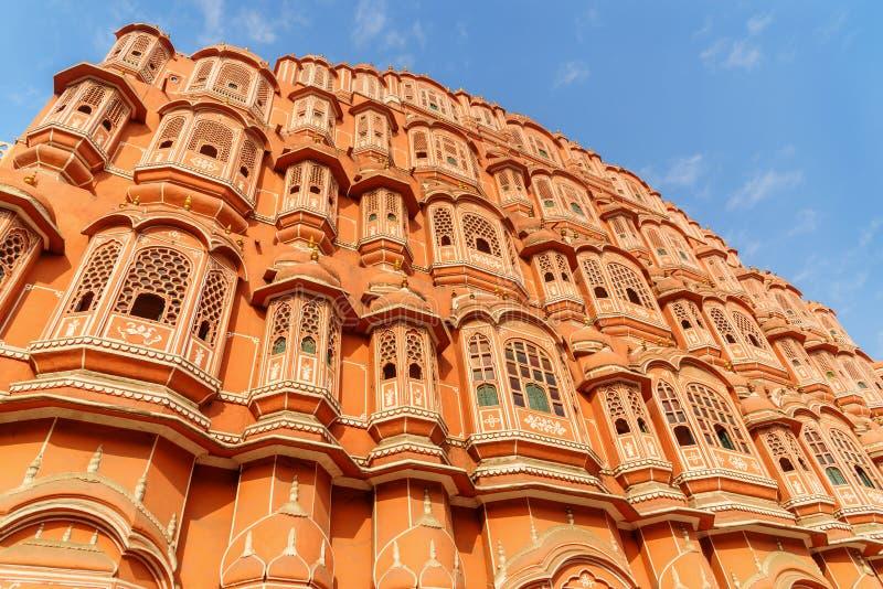 Hawa Mahal palace is Palace of Winds in Jaipur. India. Hawa Mahal palace is Palace of Winds in Jaipur. Rajasthan. India royalty free stock photos