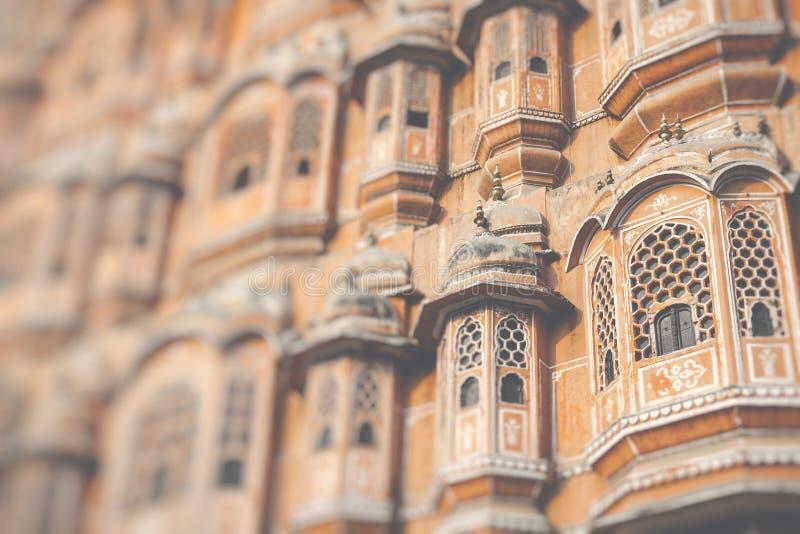 Hawa Mahal palace Palace of the Winds in Jaipur, Rajasthan.  royalty free stock images