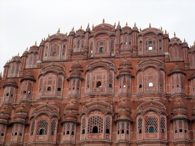 Hawa Mahal, Palace of the Winds, Jaipur, Rajasthan. Details of Hawa Mahal, Palace of the Winds,Jaipur, Rajasthan, India stock photo