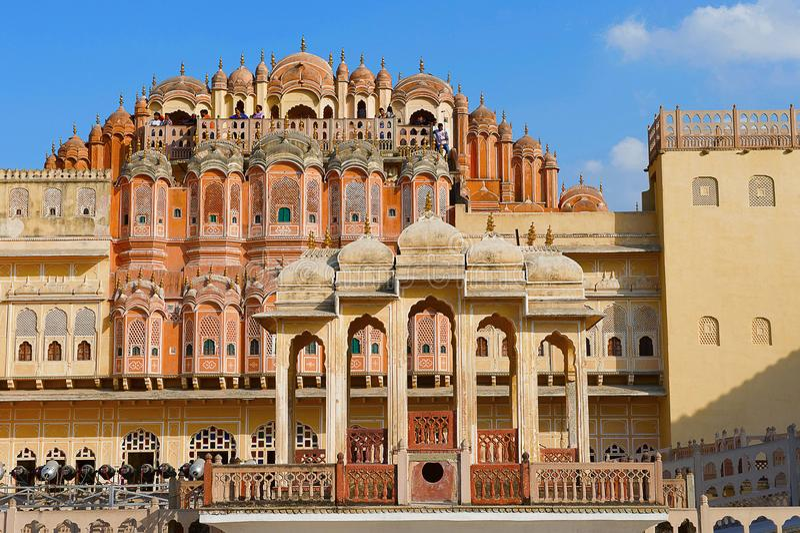 Hawa Mahal, Palace Of The Winds, Jaipur, Rajasthan. India stock photography