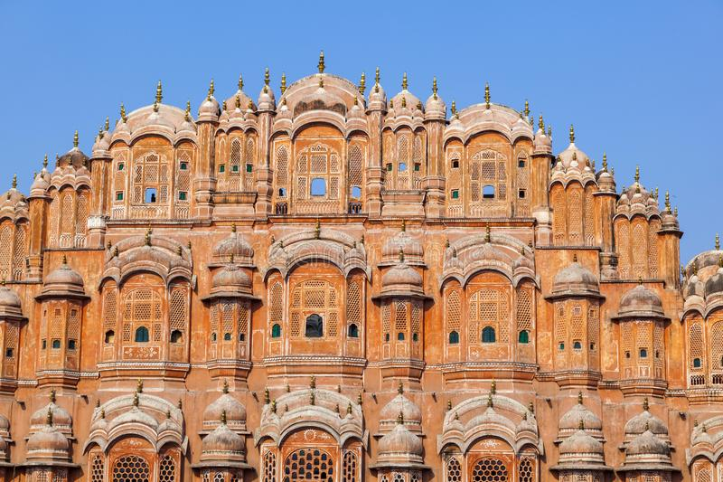 Hawa Mahal, the Palace of Winds in Jaipur. Rajasthan, India royalty free stock photo
