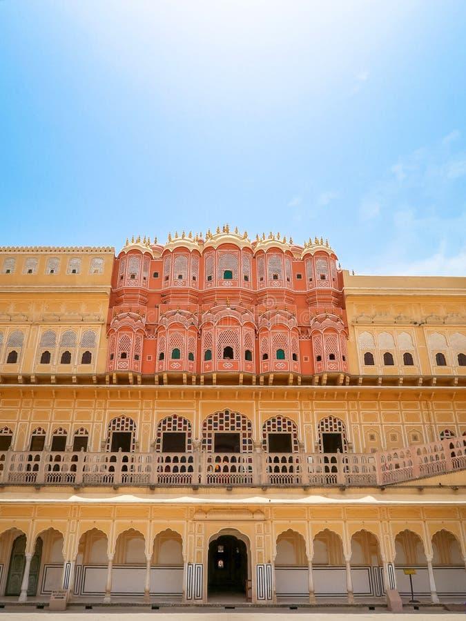 Hawa Mahal, the Palace of Winds, Jaipur, Rajasthan, India. Inside of Hawa Mahal, the Palace of Winds, Jaipur, Rajasthan, India royalty free stock photography