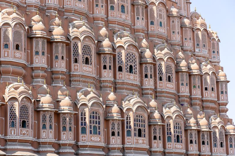 Hawa Mahal, palais rose des vents dans la vieille ville Jaipur, R?jasth?n, Inde photographie stock
