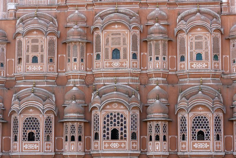 Hawa Mahal, palais rose des vents dans la vieille ville Jaipur, R?jasth?n, Inde photo stock