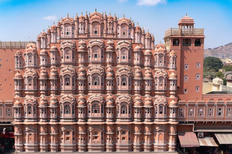 Hawa Mahal - paleis in Jaipur royalty-vrije stock foto