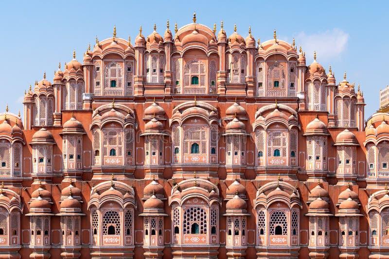 Hawa Mahal - paleis in Jaipur royalty-vrije stock afbeelding