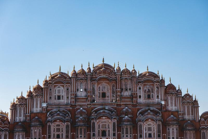 Hawa Mahal-paleis Jaipur, India royalty-vrije stock afbeeldingen