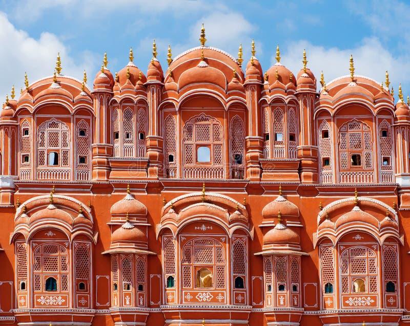 Hawa Mahal-paleis in Jaipur, Rajasthan royalty-vrije stock fotografie