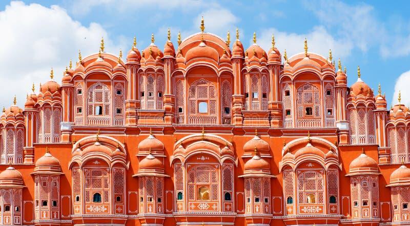 Hawa Mahal-paleis in Jaipur, Rajasthan royalty-vrije stock foto