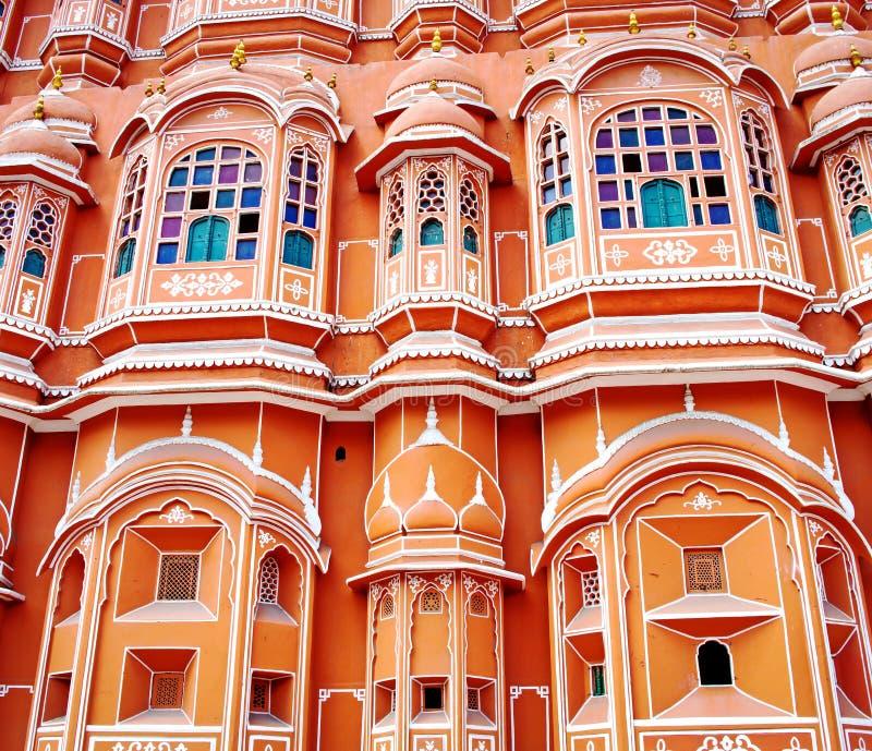 Hawa Mahal-paleis (Paleis van de Winden) in Jaipur, Rajasthan royalty-vrije stock foto's
