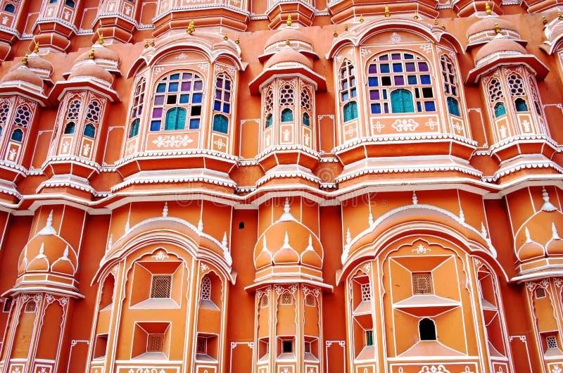 Hawa Mahal-paleis (Paleis van de Winden) in Jaipur, Rajasthan royalty-vrije stock afbeelding