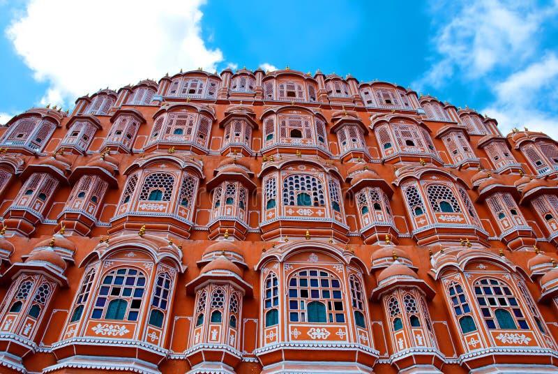 Hawa Mahal-paleis (Paleis van de Winden), Jaipur, Rajasthan, India stock foto
