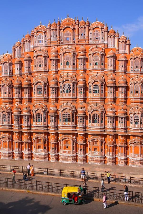 Hawa Mahal - Paleis van de Winden in Jaipur, Rajasthan, India royalty-vrije stock foto's