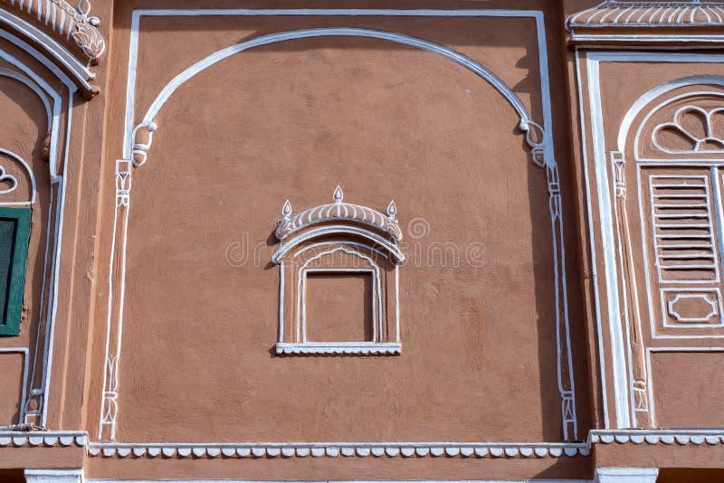Hawa Mahal, pink palace of winds in old city Jaipur, Rajasthan, India royalty free stock photo