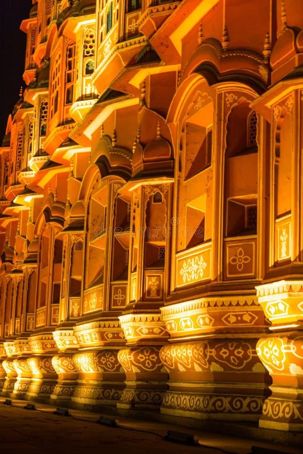 Hawa Mahal przy nocą obrazy stock