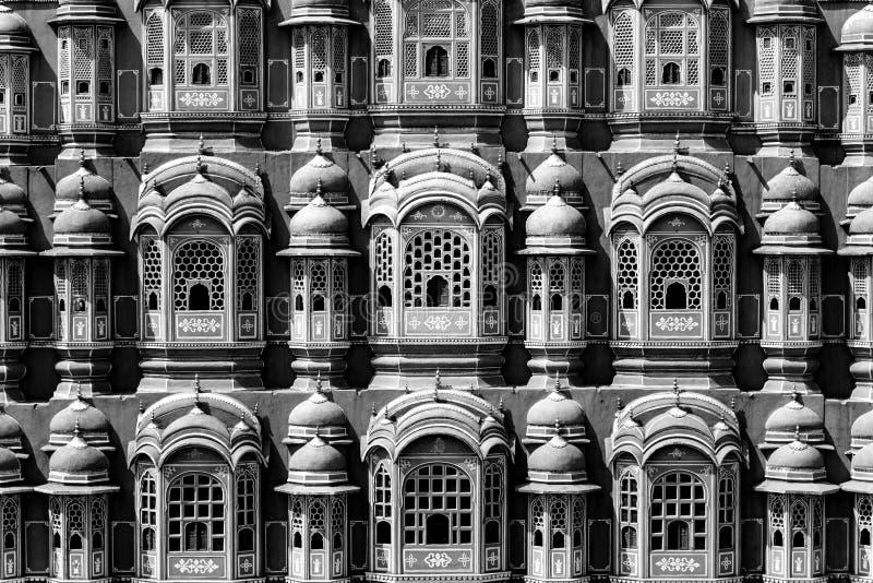 Hawa Mahal - slott i Jaipur arkivfoto