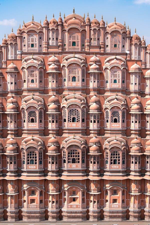 Hawa Mahal - slott i Jaipur arkivbild