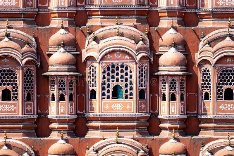 Hawa Mahal - slott i Jaipur royaltyfria bilder