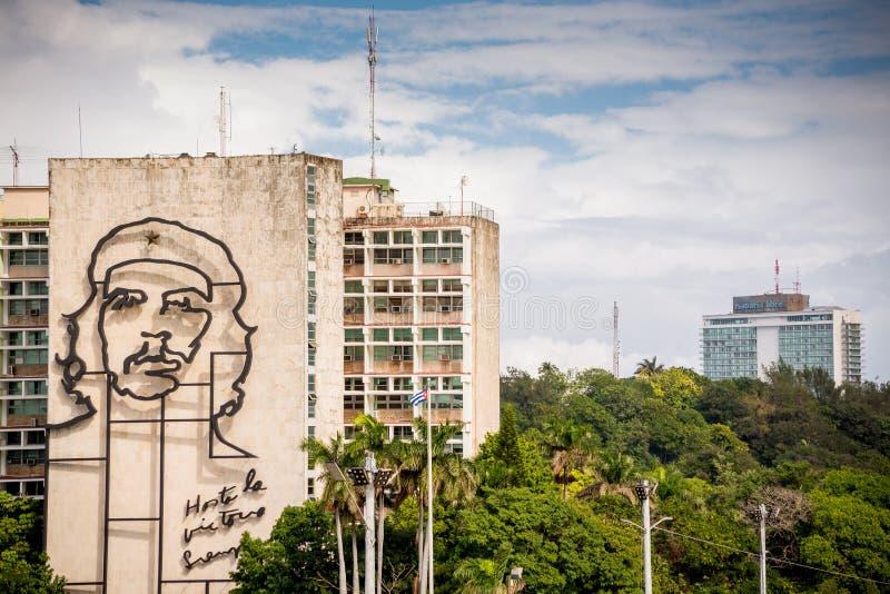 Hawa?ski, Kuba, Listopad - 29, 2017: Rewolucja Kwadratowy portret, Hawa?ski, Kuba fotografia royalty free