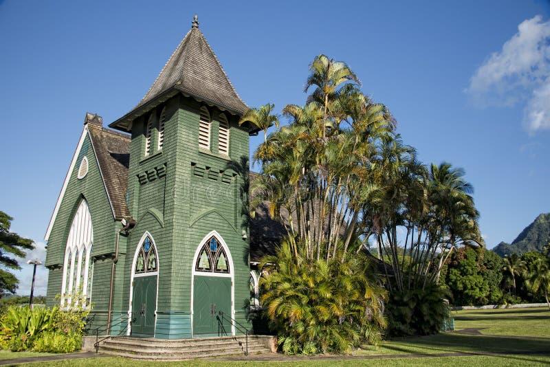 Hawaian christelijke kerk royalty-vrije stock afbeelding