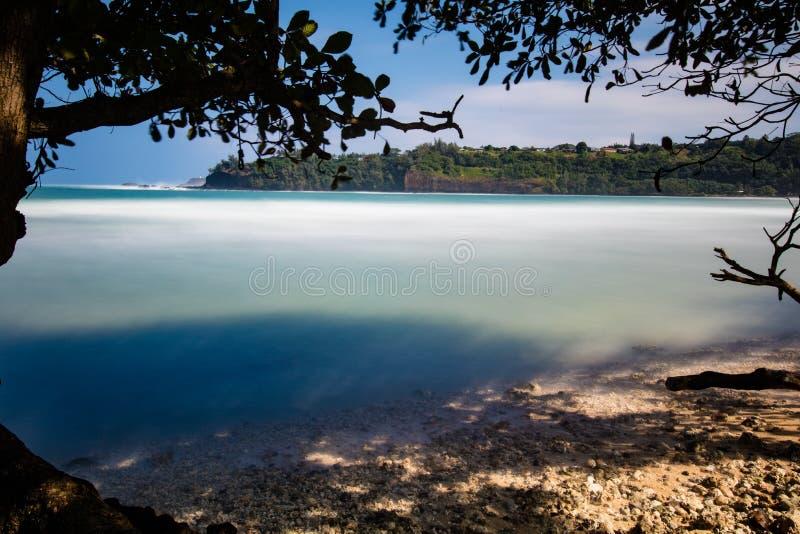 Hawaiansk fjärd med den sandiga stranden royaltyfri bild