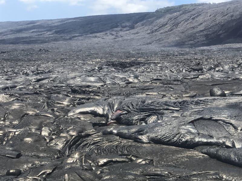 Hawaiansk lava royaltyfri fotografi