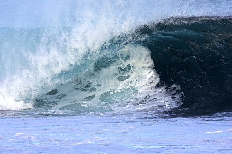 hawaiansk northshorewave royaltyfri foto