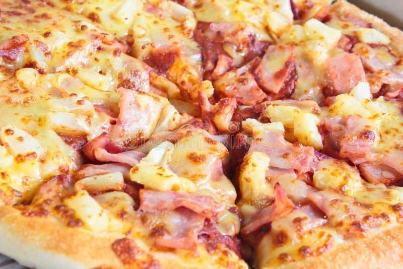hawaiansk pizza arkivfoton