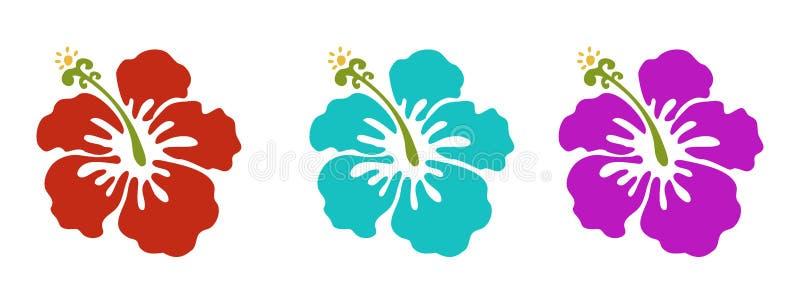 Hawaianska blommor vektor illustrationer