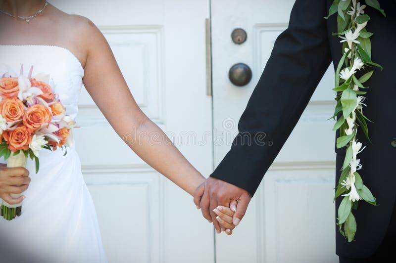 hawaianskt bröllop royaltyfri foto