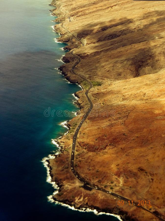 Hawaii Arial view royalty free stock photo