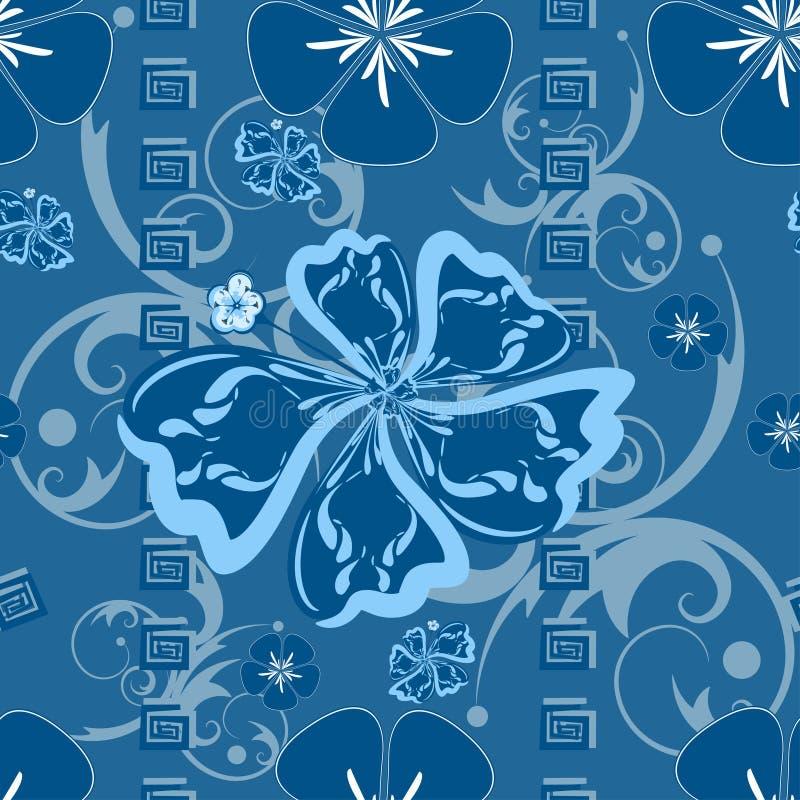 hawaii błękitny wzór ilustracji