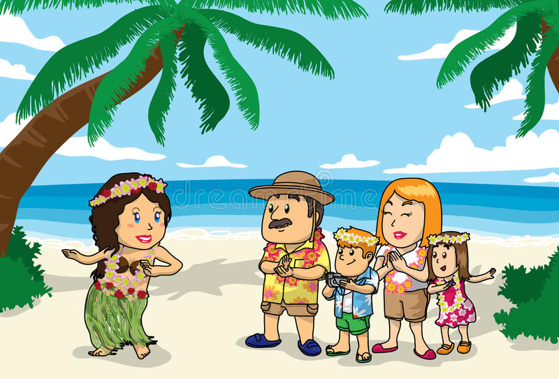 Hawaii Beach vector illustration