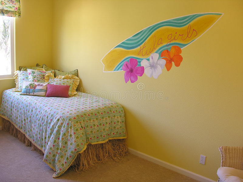 Hawaii Bedroom stock images