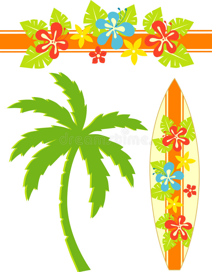 Download Hawaii-Brandung vektor abbildung. Illustration von karikatur - 27730043