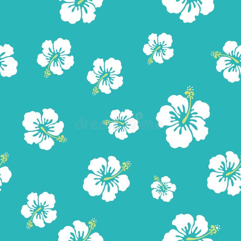 Hawaii flowers texture vector illustration