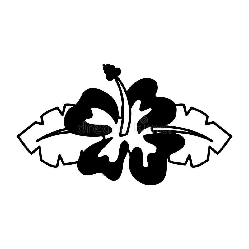 hawaii gullig blommasymbol royaltyfri illustrationer