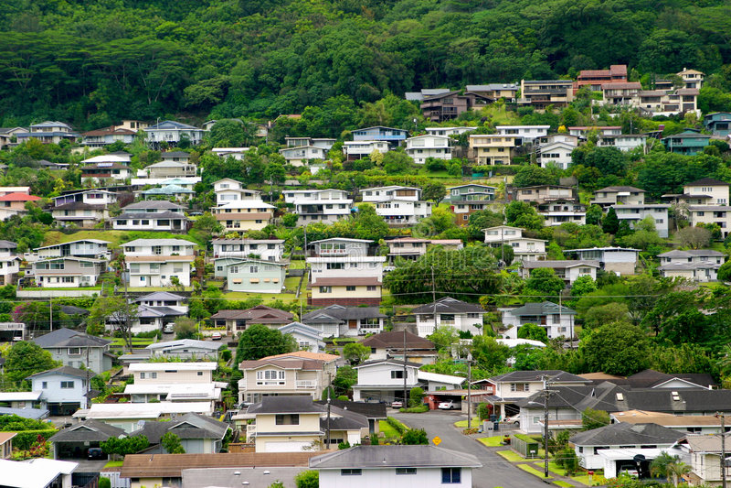 Hawaii Homes stock photos