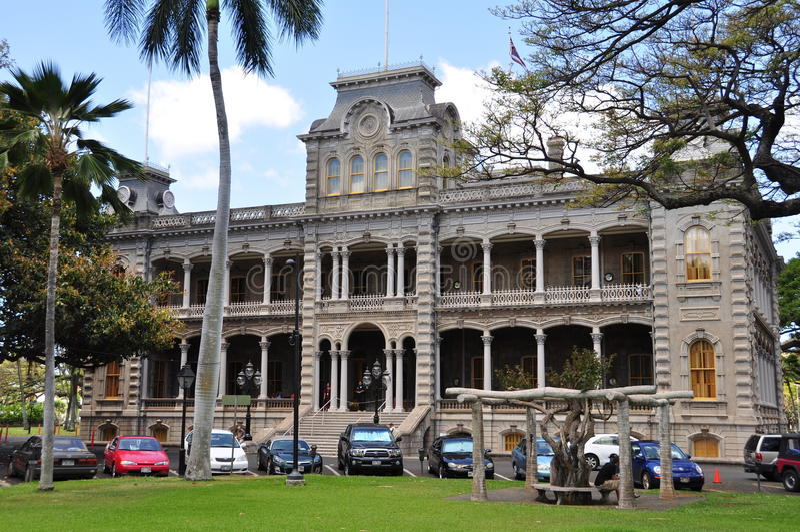 hawaii honolulu iolanislott royaltyfri foto