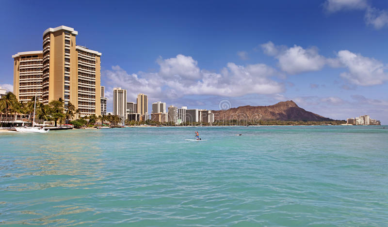 hawaii honolulu waikiki arkivfoto