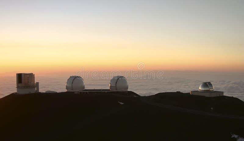 hawaii kea mauna obserwatoria zdjęcie royalty free