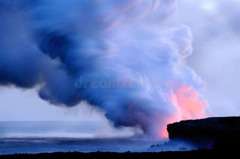 hawaii kilauea wulkan obraz stock